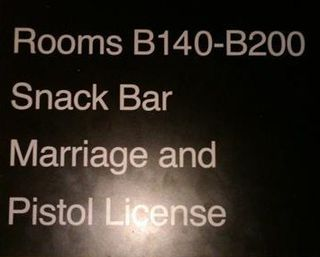 Marriage and pistol license